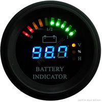 Arc line battery discharge indicator