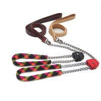 2 In 1 Full Grain Leather Leash