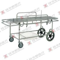 Stainless steel hospital patient transfer trolley thumbnail image