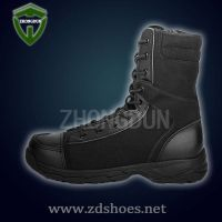 High quality military anti-riot leather combat/training boots