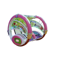 2 players moonwalk happy car swing car for outdoor entertainment