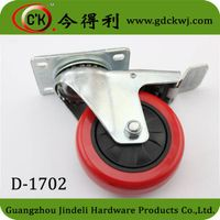 2 ton heavy duty caster wheels furniture caster wheel with brake D-1702