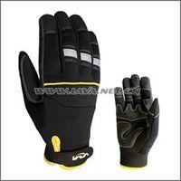 High visibility mechanics gloves, High visibility work gloves, High visibility industry gloves