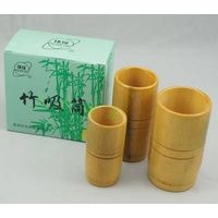 Chinese cupping set 3 cups traditional Bamboo Cups set thumbnail image