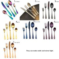 5pcs flatware sets wedding gifts for guests dining table sets stainless steel cutlery thumbnail image