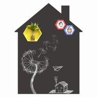 House Shape Removable Chalkboard Sticker Wholesale thumbnail image