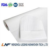 optical white chef hat nonwoven fabric