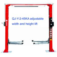 2-post auto lift with adjustable width and height