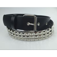 Wholesale newest pu leather women rivet belt with buckle