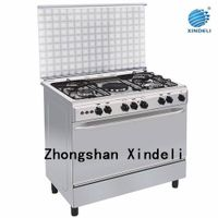 China Housing range gas oven with hotplate