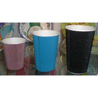 Ripple paper cup,corrugated paper cup