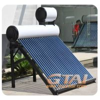 solar water heater with copper coil