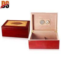 Custom Logo Printed Wooden Cigar Humidor Box Manufacturer For Sale thumbnail image