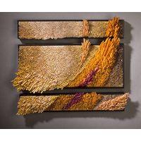 Modern decorative grass in the wind Hand blown glass sculpture wall art