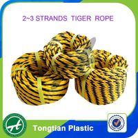 3 Strand PP PE Tiger Rope China Supplier