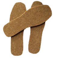 Wholesale winter genuine leather shoe padded insoles wool felt insoles for shoes