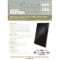 Monocystalline silicon solar panel