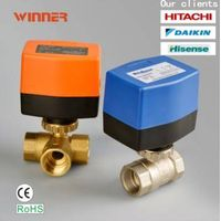 Forged Brass HPb59-1 Electric Control Ball Valves ON/Off Type Control