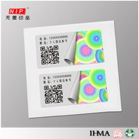 Custom self adhesive QR Code hologram sticker