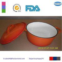 cast iron enamel oval casserole