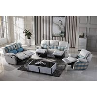 OEM romantic royal furniture fabric recliner sofa set