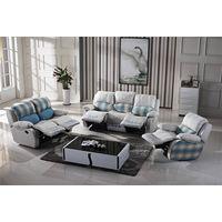 OEM romantic royal furniture fabric recliner sofa set