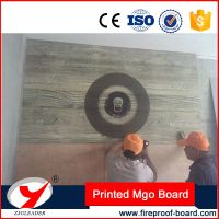 Interior wall partition pinted mgo board