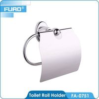 Brass chrome toilet towel paper dispenser