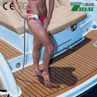 pvc soft teak decking floor for outdoor decoration of boat