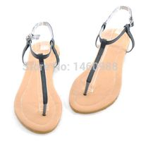 Fashion Flat Lady PU Sandals, Women Casual Shoes Flip Flops