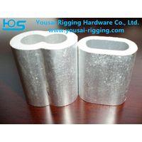 Aluminium Hourglass sleeve/wire rope sleeve/U.S. TYPE SELF COLOR ALUMINUM SLEEVE HOURGLASS