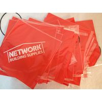 supply PVC tarp warning pennant flag and safety pennant flag with customized logo