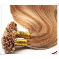 Brazilian Remy Nail Human Extension Natura Hair U-Tip Hair