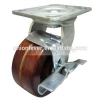 5 inch Plate swivel brake high temperature caster of 300 degree C series
