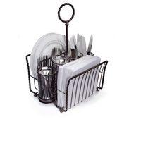 Picnic Basket, Gourmet Basics Rope, Plate, Flatware, Napkin