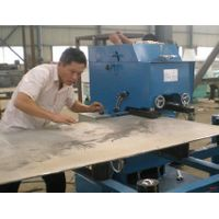 Rolling scissors groove machine for preparing steel plate groove