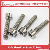 Aerospace Grade 5 TI6AL4V Titanium M5x20 Bolts 20mm Screw Hex Socket Allen Head Din912 Bicycle Part