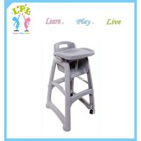 2017 good impact and abrasion resistence plastic kids feeding highchair portable baby chair