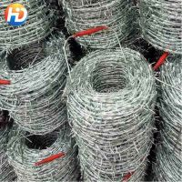 galvanized and PVC coated Barbed Wire thumbnail image