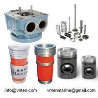 Cylinder head, Cylinder liner, Piston