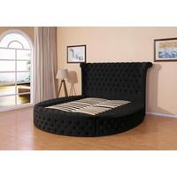 Elegant Round Velvet Bed thumbnail image
