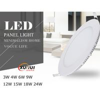 Super Slim Recessed LED Panel Light PMMA LGP Aluminum 3W-18W CE RoHS Certified