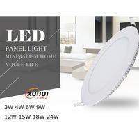 Super Slim Recessed LED Panel Light PMMA LGP Aluminum 3W-18W CE RoHS Certified