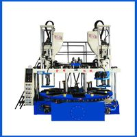 vertical two color upper&sole injection molding machine
