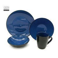 wholesale 16pcs two tone color glaze ceramic stoneware dinnerware set thumbnail image