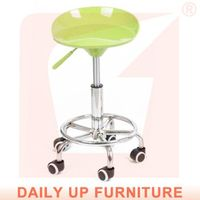 Dining PP Stool Bar Steel Chair Laboratory Room Lift Chair Height Adjustable Bar Stools with Wheels