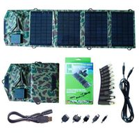 14watt foldable solar bag charger include voltage controller with dual output for iPad / iPhone thumbnail image