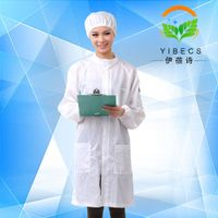 Stripe/Grid ESD Cleanroom Garment , Antistatic Cleanroom Smock/Coverall/Suit/Clothing/Clothes