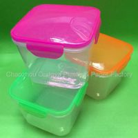 Plastic storage baskets container with cover