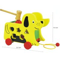 wooen toys- Pull Along Dog